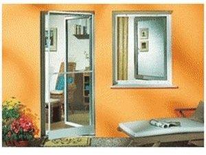 Schellenberg Insektenschutz Eleganza für Türen braun (100 x 210 cm)