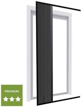 wip Alu Plissee-Tür 120 x 240 cm anthrazit (22155)