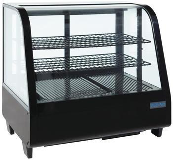 Polar Serie C Kühlvitrine schwarz 100L