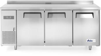 Hendi Kühltisch, Zweitürig, mit verstellbaren Regalen, Temperatur von -2 bis 8°C, Inklusive 2 Fachböden, je bis 15kg belastbar, 220L, 230V, 300W, 1200x600x(H)850mm, Edelstahl