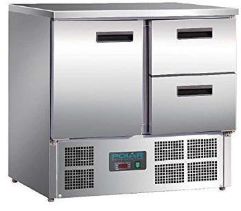 Polar Serie G Kühltisch 1-türig mit 2 Schubladen 240L
