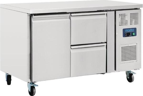 Polar Serie U Kühltisch 1-türig mit 2 Schubladen 282L