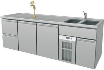 GGG Ausschanktheke, 2545x700x900 mm, Umluftkühlung, 500 W, 4251225625820 (B1-BR)