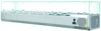 Skyrainbow Kühlaufsatzvitrine 5 x 1/4 GN, aus Edelstahl