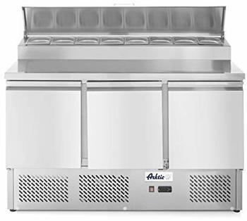 Hendi Kühltisch zweitütig mit Aufsatzkühlvitrine 380 Liter