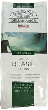 Compagnia dell'arabica Kaffe Brasil Santos 100% Arabica Bohnen (500 g)