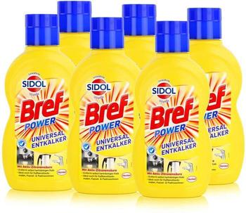 Sidol Power Universal-Entkalker 6x500 ml Reinigungsmittel Reinigen Sauberkeit