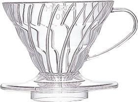 Hario Kaffeefilter aus Kunststoff VD-01T (V60 01) transparent