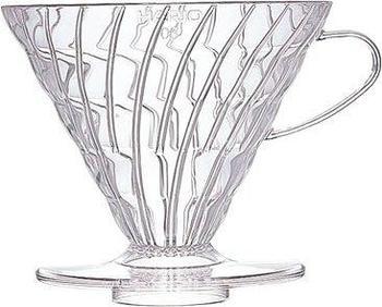 Hario Kaffeefilter aus Kunststoff VD-02T (V60 02) transparent