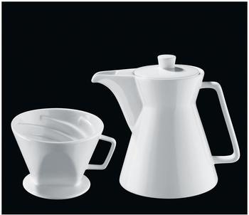 Cilio Kaffeekanne & Kaffeefilter Vienna weiß