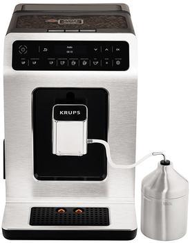 krups-kaffeevollautomat-ea891d-evidence-metal-espresso-vollautomat-2-1l-tank-kegelmahlwerk-mit-15-voreinstellungen-silberfarben