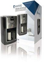König Electronic Kaffeemaschine 800 W 10 Tassen Schwarz/Silber