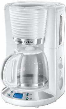 Russell Hobbs 24390-56 Digitale Glas-Kaffeemaschine Inspire White, 1.25l, WhirlTech-Brühtechnologie, digitales Bedienelement mit programmierbarem Timer, 1100 Watt, weiss