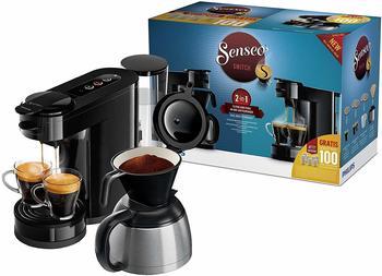 Philips Senseo Kaffeepadmaschine HD6591/69 Switch schwarz