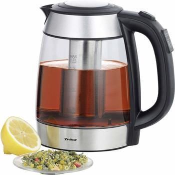 Trisa Teebereiter Perfect Tea Glas, Edelstahl (gebürstet), Schwarz