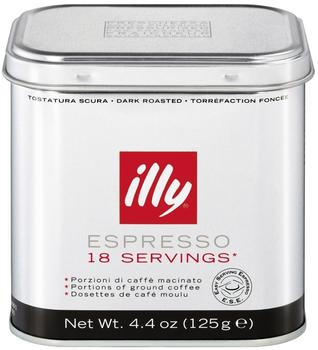 illy Espresso Pads Dunkle Röstung Dose (18 Port.)