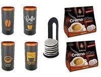 Dallmayr Crema dOro Intensa 2x16 St. + Kaffeepaddose 4er Set