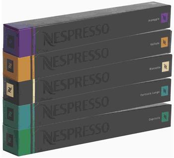 Nespresso Fortissio Lungo, Ristretto, Volluto, Capriccio, Arpeggio 5x10 Kapseln