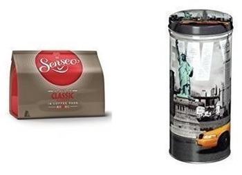 """Douwe Egberts Senseo Classic 16 St. + Xavax Paddose """"City"""" New York"""