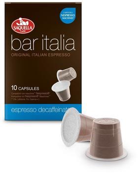Saquella Bar Italia Espresso Decaffeinato 10 Kapseln