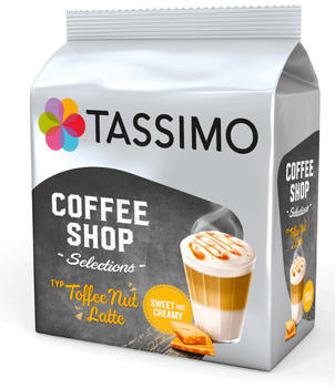 Tassimo Coffee Shop Selections Toffee Nut Latte (5x8 Port.)