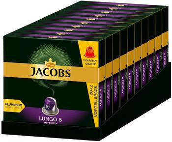 Jacobs Lungo 8 Intenso Kaffeekapseln (10x22 Port.)