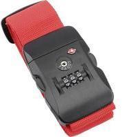 OLYMP 6012 Koffergurt 50mm TSA Rot