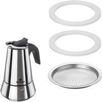 Westmark 2 Silikondichtringe + 1 Filterplättchen für Espressokocher Brasilia Plus/24682260, Ersatzteile, 2468228E