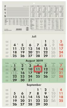 Zettler Kalender Dreimonatskalender 2020