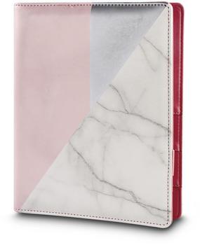 Rayher FSCMixCred A5 weiß/rosa Marmor