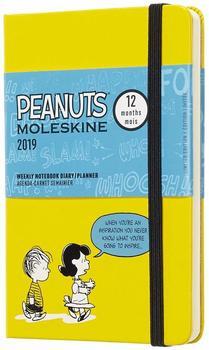 Moleskine 12 Monate Wochen-Notizkalender 2019 Hardcover Pocket Peanuts gelb