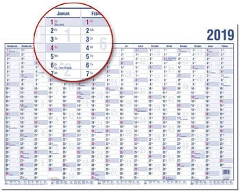 Güss Wandkalender A3 2021