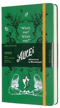 Moleskine 12 Monate Tageskalender Hardcover Large 2020 Alice im Wunderland