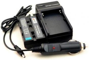 Bresser Ladegerät + 2x NP-F550 kompatibel