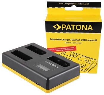 Patona USB Triple Ladegerät f. Nikon EN-EL14