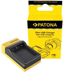 Patona Slim Micro-USB Ladegerät f. Fujifilm Fuji NP-W126