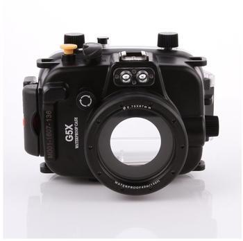 FOTGA 40M130ft Wasserdichtes Gehäuse Tauch Harte Fall Abdeckung für Canon PowerShot G5X Kamera