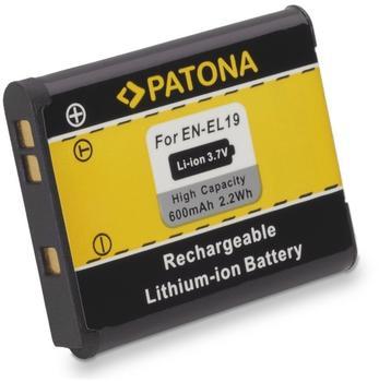 PATONA Akku für Nikon CoolPix S4100 S3100 S2500 EN-EL19 ENEL19