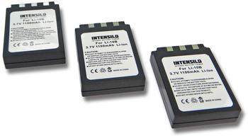 PATONA Intensilo 3x Li-Ion Akku 1100mAh (3.7V) für Kamera Camcorder Video Olympus µ[mju:] 300, 400, 410, Li-10B, VPC-AZ3 EX DB-L10.