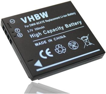 vhbw Akku LI-ION 550mAh für PANASONIC Lumix DMC-FH5K, DMC-FH5S, DMC-FH5V, DMC-FH2K, DMC-S3A, DMC-S3V, DMC-FH6K, DMC-TS20K, DMC-TS20R, DMC-TS20A etc.