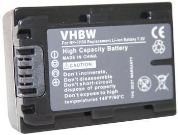 vhbw AKKU passend für SONY DSLR-A230, DSLR-A230L, DSLR-A230Y etc. ersetzt NP-FH40 NP-FH50 mit INFOCHIP & RESTLAUFZEITANZEIGE