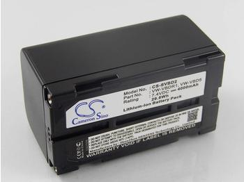 vhbw Li-Ion Akku 4000mAh (7.4V) für Videokamera Camcorder Hitachi VM-645LA, VM-945LA, VM-D865, Vm-D