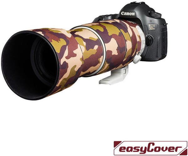 Discovered Easycover Lens Oak für Canon EF 100-400mm F4.5-5.6L IS II USM Braun Camouflage
