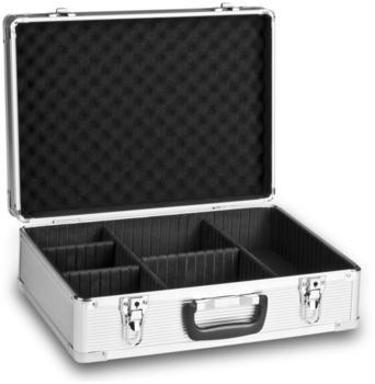 Mantona Basic M Koffer silber + Schaumstoff