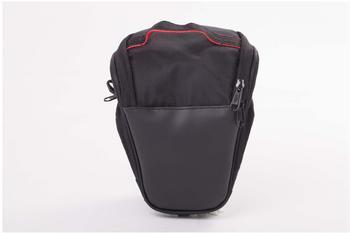 vhbw Kunststoff Tasche schwarz für Panasonic Lumix Dmc-gh4, Dmc-Gm1, Dmc-Gm5, Dmc-Gx7, Dmc-Gx8