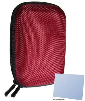 equipster Hartschalentasche rot für Nikon Coolpix S9900 - inklusive equipster Displayschutzfolie