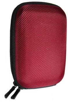equipster Hartschalentasche in rot + equipster Displayschutzfolie für Ihre Digitalkamera Canon PowerShot SX720 HS