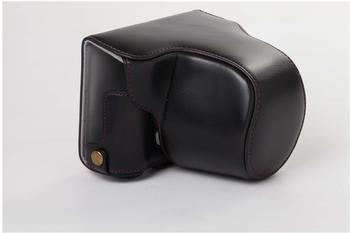 vhbw Kameratasche schwarz für Kamera Olympus PEN-F Systemkamera.