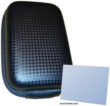 equipster Hartschalentasche carbonschwarz für Panasonic Lumix DMC - inklusive equipster Displayschutzfolie