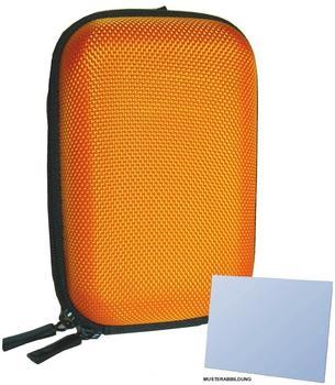 equipster Hartschalentasche orange für Panasonic Lumix DMC - inklusive equipster Displayschutzfolie